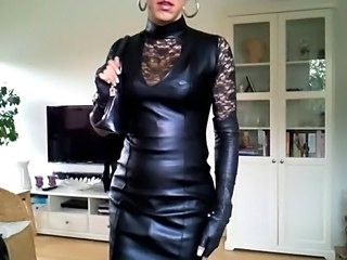 Sissy sexy leather dress 1
