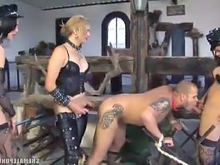 Fetish Shemales Ravage Guys Hole