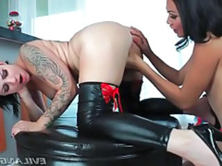 Huge tattoo on back of hot girl fucking shemale tubes