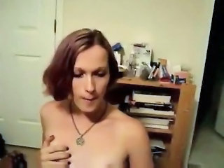 Pixie Trappi   punkish amateur shemale getting drilled