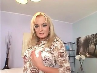 Blonde mature anal
