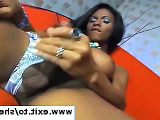 Ebony Shemale Keisha in anal ecstasy Sex Tubes