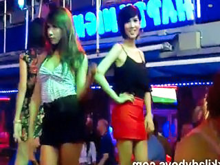Nikki with ladyboys in Phuket Thailand