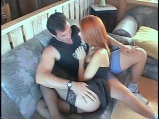 Lucky stud gets head from a stunning tranny