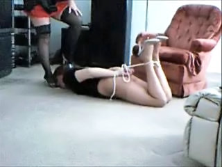 slave lisa hogtied and humiliated