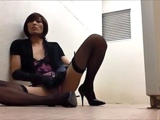 Dirty Slut Waiting Kinky Cocks In Public Toilet
