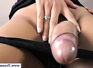 Shemale amateur with Big Tits masturbating