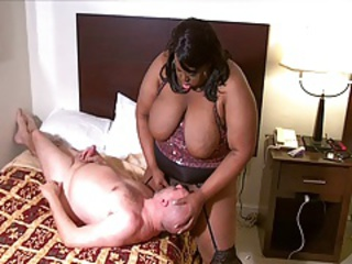 Big Black  Ladyboy JuicyNikki Interracial rage