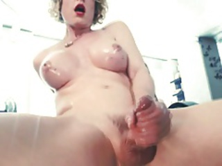 She-male real orgasm 37