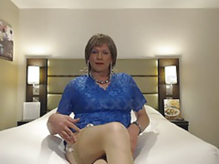 Blue Dress and  Nylons
