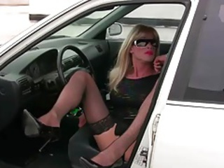 TrannyKitty  (NonNude) upskirt she-male excitement