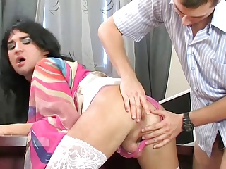 Date making love round cute crossdresser
