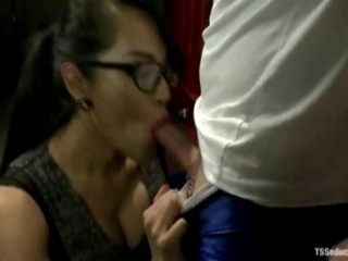 She fucked my ass lubed with her tranny cum