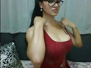 Gorgeous  In Glasses Unloads Her Cock On Web cam