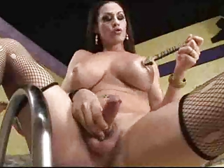 Busty LadyBoy Toyed Oiled Gangbanged by TROC