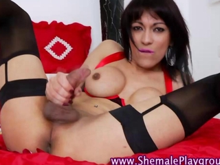 Stockings shemale hoe gets rimmed