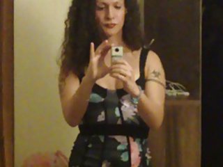 Flower dress selfie video