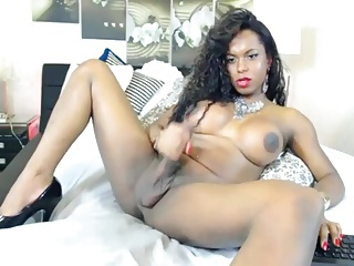 Brazilian TS Shoots 2 HUGE Loads for Me