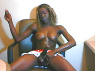 smoking big cock ebony shemale
