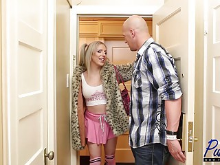 blonde bimbo Juliette Stray gets what she craves