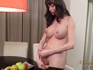 cum on fruit dish