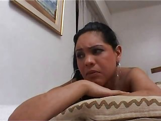 Busty latina gets full sevice massage