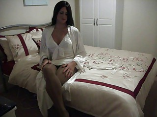 Ashley in Ivory Nightie