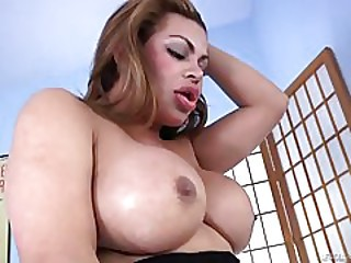 Latina Shemale tina fucks Christian