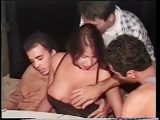 Foursome at night