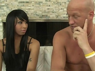 Honey Foxxx B rides on dick with hardon