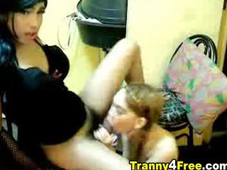 Tranny Couple Doing Hardcore Oral