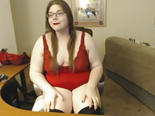 Masturbating in my red lingerie!