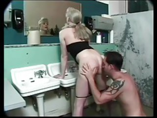 Sweet TS Bathroom Fuck