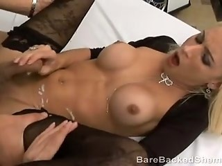 Hot tranny ass unloaded with cum