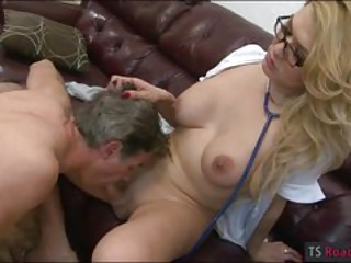 Huge boobs blonde shemale Gianna Rivera asshole rammed