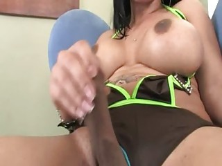 breasty babe with brutal cock showing us