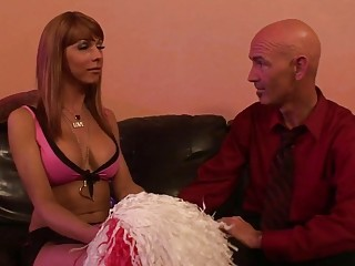 Cheerleader Danika Dreamz anal bangs guy