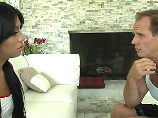 Cheerleader Natalie Fox fucked by coach
