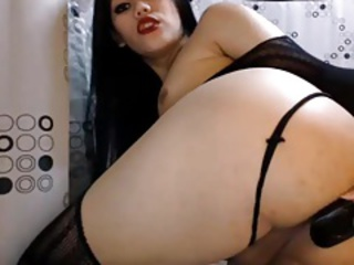 Pretty Asian Shemale Playing Her Mouth-watering Ass