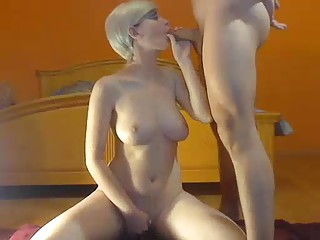Amateur shemale using her naw pussy