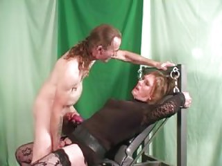 Blonde Tgirl used by horny male with big cock