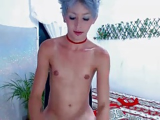 blue haired slim assets cute ts