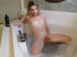 Sumptuous tgirl bath time