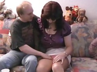 Amateur sex with shemale in stockings